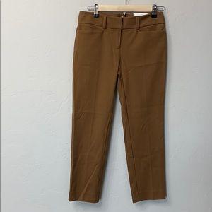 LOFT Zoe cropped brown pants size 0. NWT